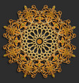 islamic oriental pattern set abstract vector image vector image