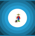 isolated farmer flat icon man element can vector image vector image