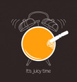 juicy time vector image