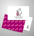 love care logo vector image vector image