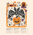 lovely holiday happy halloween flyer template with vector image vector image