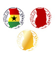 made in Ghana stamp vector image vector image