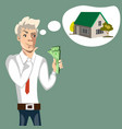 man to consider the purchase of my home vector image vector image