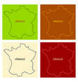 map of france with flag isolated 3d isometric vector image vector image