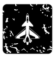 Military aircraft icon grunge style vector image vector image
