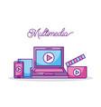 multimedia technology device video movie digital vector image vector image