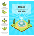 natural parkland landscape with fountain vector image vector image