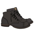 old dark leather shoes vector image vector image