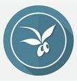 olive icon on white circle with a long shadow vector image