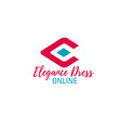 online fashion store letter e icon vector image