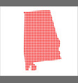 red dot map of alabama vector image vector image