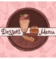 Restaurant sketch menu template vector image vector image