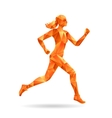 Running woman silhouette vector image