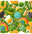 Saint Patricks Day seamless pattern with stickers vector image vector image