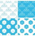 Scheme patterns set vector image vector image