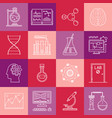 science and medicine lineart minimal iconset on vector image vector image