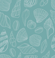 Seashells seamless pattern vector image vector image