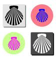 shell sea marine flat icon vector image