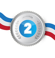 Silver Medal Award Isolated on White Background vector image vector image