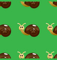 snail seamless pattern vector image