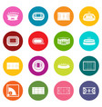 sport stadium icons many colors set vector image vector image