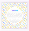 success concept with thin line icons vector image vector image