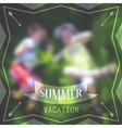 Summer holidays poster with boys laying in grass vector image
