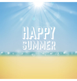 Summer tropical holidays background vector image vector image