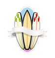 surf board for sutfing sport vector image