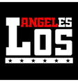 T shirt typography Los Angeles CA black vector image vector image