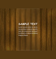 template for design with wooden background vector image