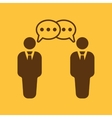 The negotiations icon Debate and dialog vector image