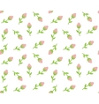 Tiny roses seamless background vector image vector image