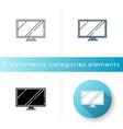 tv wide screen icon vector image