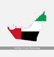 united arab emirates uae map flag