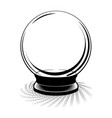 vintage crystal ball vector image vector image