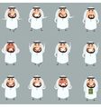Set of cartoon muslim icons1 vector image
