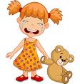 Cartoon little girl crying isolated vector image