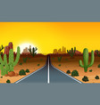 a road trip in the west vector image