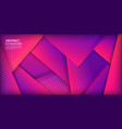 abstract geometric shapes 3d with purple gradient vector image vector image