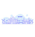 amsterdam skyline netherlands city building vector image vector image