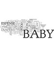 baby expense what to do when baby text word cloud vector image vector image