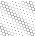Black and white honeycomb graphic tiles pattern vector image