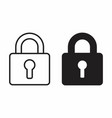black and white padlock icons vector image vector image
