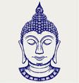 Buddha portrait vector image vector image