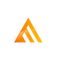 business triangle construction company logo vector image vector image