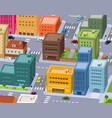 cartoon city - downtown scene vector image vector image