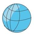 cartoon earth globe diagram icon vector image