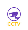 cctv camera icon vector image vector image