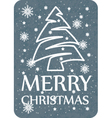 christmas card grey vector image vector image